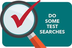 Do some test searches